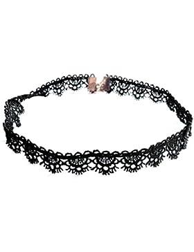 2017 Nuevo Collar, Holacha Choker Gargantilla Flor del lado del Cordón Elegante Personalizado para Mujeres Negro