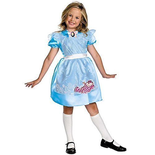 DISNEY ALICE IM WUNDERLAND KINDER-MÄDCHEN PARTY FANCY-DRESS KOSTÜM OUTFIT (Kostüm Im Disney Wunderland Alice Kind)