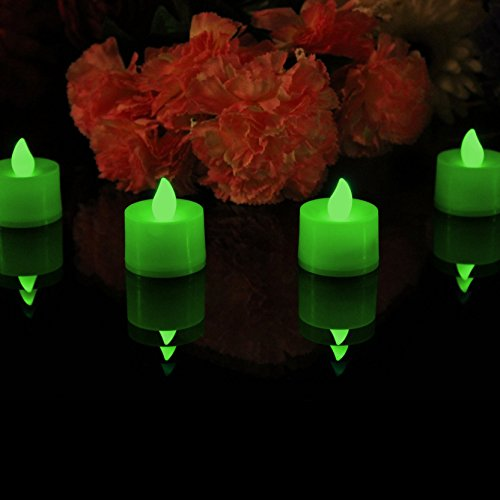 PK Green set de 12 Velas a batería con luz LED, color verde
