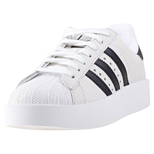 Scarpe Da Ginnastica Adidas Per Donna Superstar Bold W, Bianche, 41_1_3 Multicolore (ftwbla / Negbas / Ftwbla)