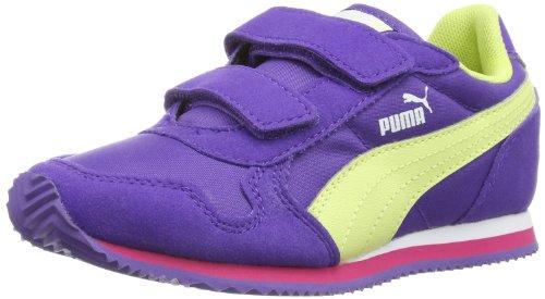 Puma ST Runner V Kids 356438 Unisex-Kinder Sneaker, Violett (prism violet-sunny lime-beetroot purple 03), EU 20 (UK 4) (US 5) (Lila Nike Kleinkind Schuhe)