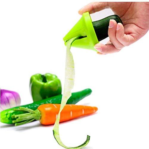 Angoter Embudo de Cocina Modelo Espiral máquina de Cortar Vegetal Zanahoria Shred Cortador rábano...