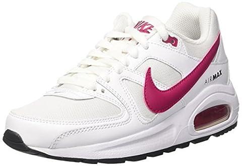 Nike Jungen und Mädchen Air Max Command Flex Gs Laufschuhe, Mehrfarbig (White/Sport Fuchsia/Black), 36