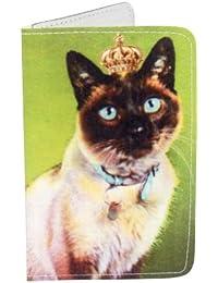 Porte-cartes Chaton royale en vert pour Cartes de Visite et Cartes Bancaires