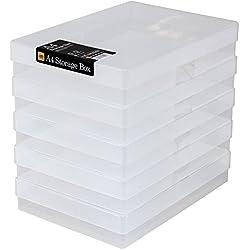 WestonBoxes A4Boîtes de Rangement en Plastique Transparent (Lot de 5)