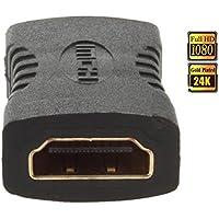 Connettore/adattatore HDMI a HDMI femmina a femmina/prolunga, contatti placcati oro, 1080P Full HD/ad alta velocità, HQ,