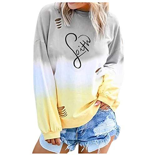 GreatestPAK Damen einfarbig Kordelzug Kapuzenpullover Bluse Sweatshirt Plüsch Hoodie Langarm Sport Pullover,Gelb,L (Kleine Bluse Bauer)