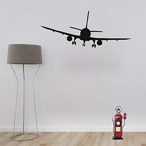 GJQFJBS Cool Airliner Airplane Silhouette Pegatinas de pared Decoración para el hogar Sala de estar Decoración del dormitorio Calcomanías de vinilo para niños Decoración del hogar rojo 60cm X 23cm
