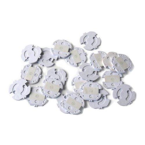 Reer 3246.020 - Tapones de seguridad para enchufes (20 unidades), color blanco