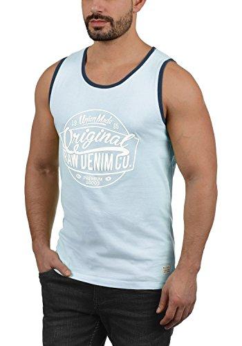 Blend Walex Herren Tank Top Muskelshirt mit Print und Rundhalsausschnitt Aus 100% Baumwolle, Größe:S, Farbe:Soft Blue (74641)