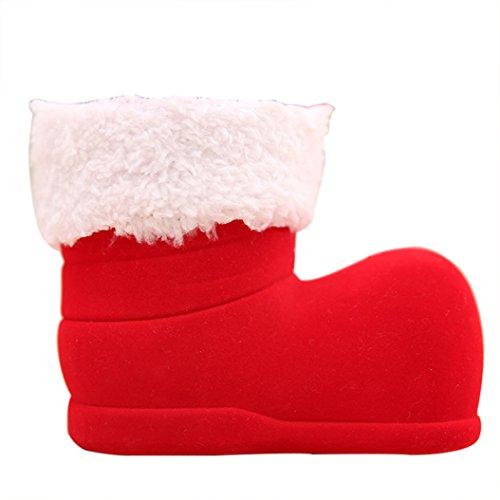 dragonaur Weihnachten Beflockung Rot Stiefel Socke kleine Candy Geschenk Beutel Karton für Kinder (Kostüm Karton Boot)
