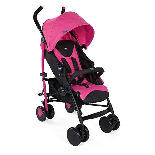 Chicco Echo Silla de paseo, ligera y compacta, soporta hasta 22kg, Rosa Deep Pink