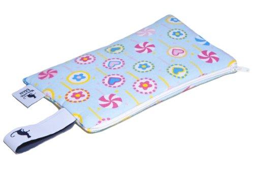 Mon Petit Bleu 5901323929953 Multi Use Bag – Multi-Funktions-Tasche – vielfach nutzbar, waschbar, wasserdicht und sogar lebensmittelecht - Muster Lollis, Größe XS