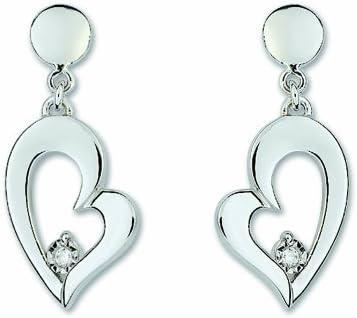 Bijoux pour tous - Pendientes de plata de ley con cierre de mariposa a presión