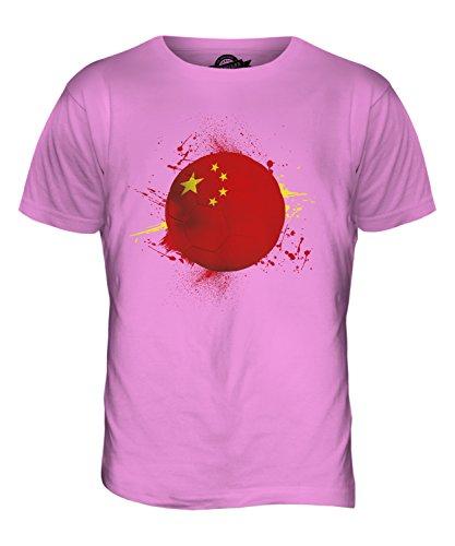 CandyMix Volksrepublik China Fußball Herren T Shirt Rosa