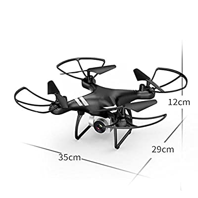 Fenghong Aircraft,20min 5.0MP 2.4GHz 6-Axis Gyro Drone UAV Quadcopter Aircraft High Performance Intelligent Speed Adjustable LED Lighting(Black)