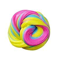 Xinan Los niños Floff Fluffy Slime Putty Durtend 60ml Scented Stress Relief Niños juguete de arcilla (B)