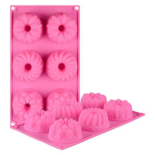 (JasCherry Silikon Backform für Schokolade, Cupcakes, Kuchen, Muffinform für Muffins, Pudding, Eiswürfel und Gelee - Blume #2)