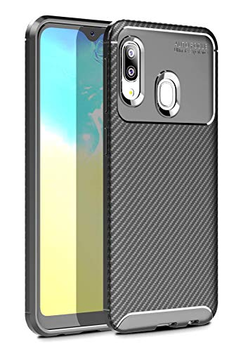 Case Collection Carbonfaser Design Hülle für Samsung Galaxy A20e Hülle (5,8