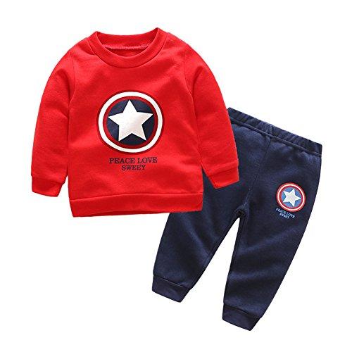 De feuilles Kinder Overall Herbst Zweiteilig Bekleidungsset Sweatshirt Hose Outfit Kleinkind Spielanzug Bodysuit Langarm Kleidung Set 2 PCS