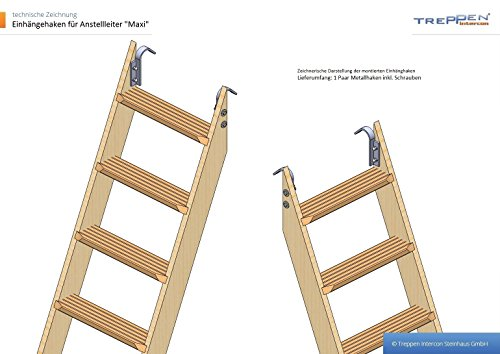 Profigold Bunk Bed Ladder Large with 7 Levels 160 cm High in 3 Different Colours