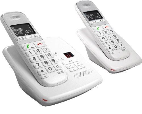 Telefunken TD 352 Pillow - Teléfono (Teléfono DECT, 12 min, 50 m, 300 m, Polifónico, Escritorio)