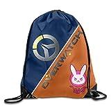 Dhrenvn Games Overwatch Logo Drawstring Backpacks Sack Bag/Bags