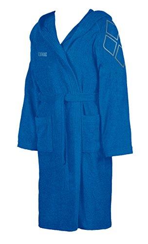 arena Unisex Frottee Bademantel Zodiaco (Weich, Wärmend, Große Kapuze, Bindegürtel, 2 Taschen), blau (Royal-Metallic Silver), M