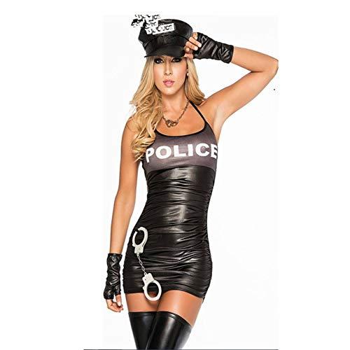 Polizei Lady Kostüm - CYY Polizeibeamtin Halloween Polizei Sexy Dessous Polizei Kostüm Night Party Party COS