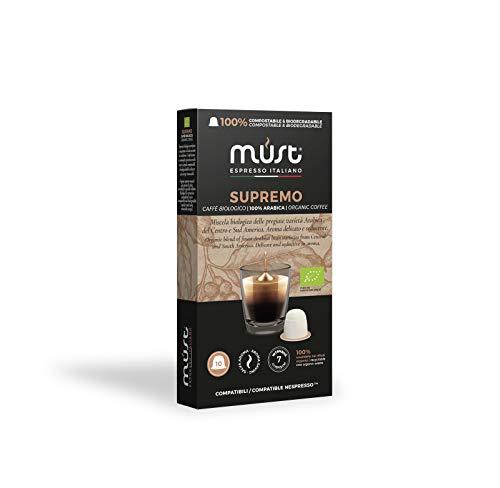 Must Espresso Italiano 100 Capsule Compostabili compatibili Nespresso Supremo Caffè Bio