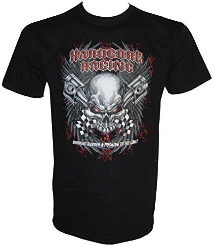 Racing Rockabilli Hot Rod T-Shirt in Größe S - 5XL Schwarz