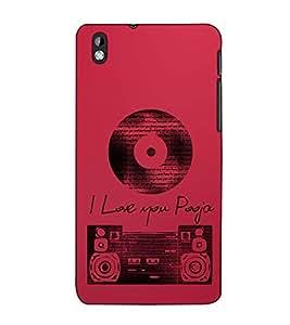 Fuson Designer Back Case Cover for HTC Desire 816 :: HTC Desire 816 Dual Sim :: HTC Desire 816G Dual Sim (I Love You Theme)