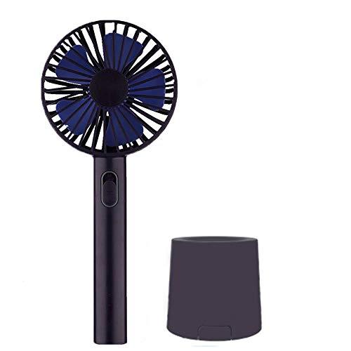 Mini ventilador portátil de GLEADING, ventilador pequeño y liviano, aire potente, recargable con USB o batería, operado personalmente para viajar, acampar, oficinas, hogares, exteriores. Refresque su verano.