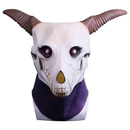YaPin Magische Make-up Braut Maske Elias Nzwas Kopf Abdeckung Maske Halloween Performance Requisiten Cos (Color : Bronze) (Hälfte Die Halloween-make-up)