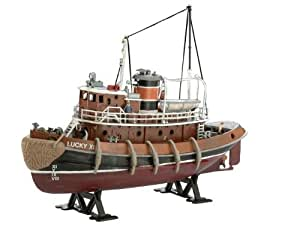 Revell Modellbausatz Schiff 1:108 – Harbour Tug Boat im Maßstab 1:108, Level 4, originalgetreue Nachbildung mit vielen Details, Hafenschlepper, 05207