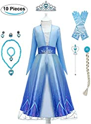Yalla Baby Girls Dress Costume for Kids Girls Princess Dress Up 90-150CM Birthday Party Cosplay Outfits w/Tiar