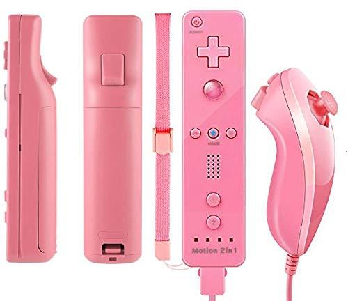 TheMax WII U Controller für Nintendo Wii U Remote WII, inklusive Silikonhülle und Gurt, Dunkelblau hot pink