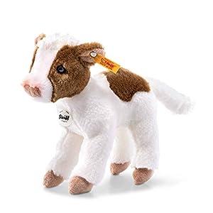 Steiff 72154 - Vaca de Peluche (16 cm), Color Blanco y marrón