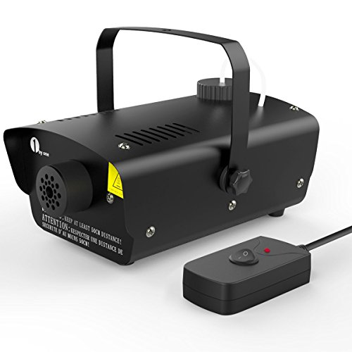 1byone-Halloween-Fog-Machine-with-Wired-Remote-Control-400-Watt-Fog-Machine-Black