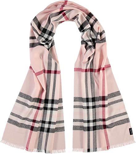 FRAAS Karierter Schal für Damen & Herren XXL - Made in Germany - Moderner Decken-Schal - The Plaid mit Karo-Muster Rosa