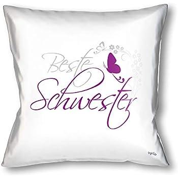 liebes kissenbezug mit spruch 39 39 keine sorge schwesterherz. Black Bedroom Furniture Sets. Home Design Ideas