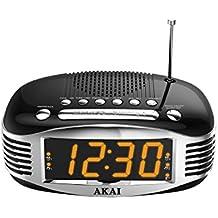 Akai AR400BK - Reloj despertador retro con AM/FM