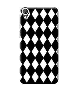 Be Awara Black and White Diamond Shape Designer Mobile Phone Case Back Cover For HTC Desire 820