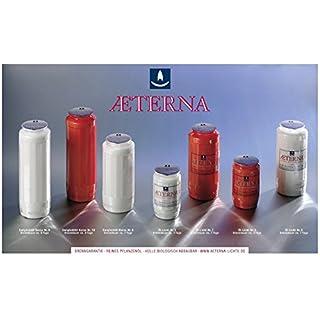 20 Stück Grablicht-Kerzen, Hell 15x6,5 cm - 3781 - Brenndauer ca. 7 Tage - Öllicht für Grablaternen - Aeterna Grabkerzen