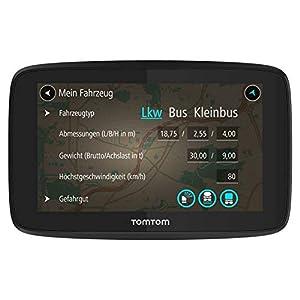 TomTom GO Professional 520 LKW-Navigationsgerät (Updates über Wi-Fi, 12,7 cm (5 Zoll), Smartphone-Benachrichtigungen, Lebenslang Karten-Updates Europa, Lebenslang Traffic und Radarkameras)