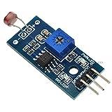 SHAHIDEER Module détecteur de lumière Capteur de luminosité et détecteur Photo avec Sortie numérique détecteur de métaux pour Arduino DIY