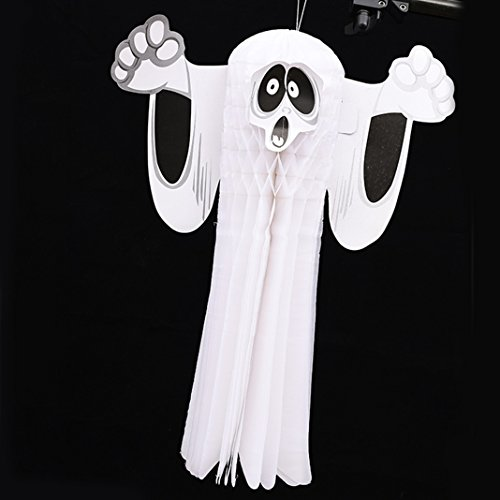 Halloween Decoration, Asnlove Ultra Slim Halloween 3D Prop Partei Club Haunted Haus Papier Stereo Spook Ghost hängende Dekoration Dekor 38x31.5CM en Party Hängen in einem Baum Design (Ghost Haunted Kostüme)