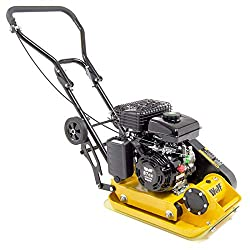 Wolf 87cc Petrol Plate Compactor with Wheels and Paving Pad