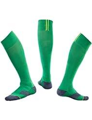 Kevin Bin 3 Pares de Calcetines de fútbol Profesional Transpirable Absorbente de Sudor 42-47, Tobillo de protección de la Parte Inferior de la Toalla, Calcetines para Exteriores