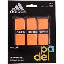 adidas Pádel OV - Set overgrip, color naranja, talla única
